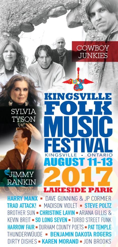 Kingsville Folk Music Festival Poster