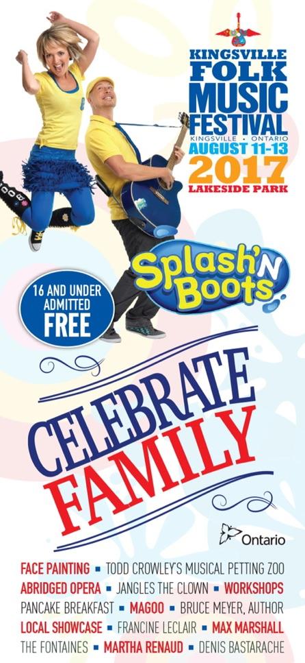 Kingsville Folk Fest Celebrate Family! Poster